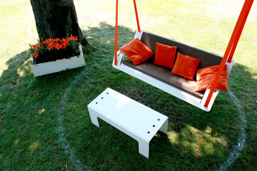 Hängebank DE VOLÉE Pool22.Design GartenMöbel Metall Weiß