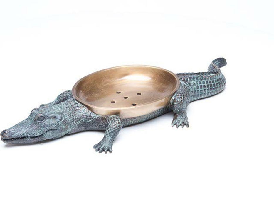"""Maitland Smith Seifenschale """"Crocodile"""" Sweets & Spices Dekoration und Möbel BadezimmerTextilien und Accessoires"""