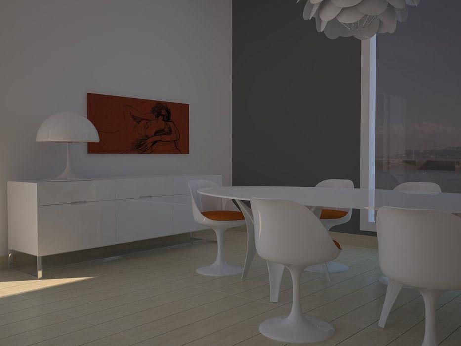 Zona de comedor. MUMARQ ARQUITECTURA E INTERIORISMO Comedores de estilo moderno