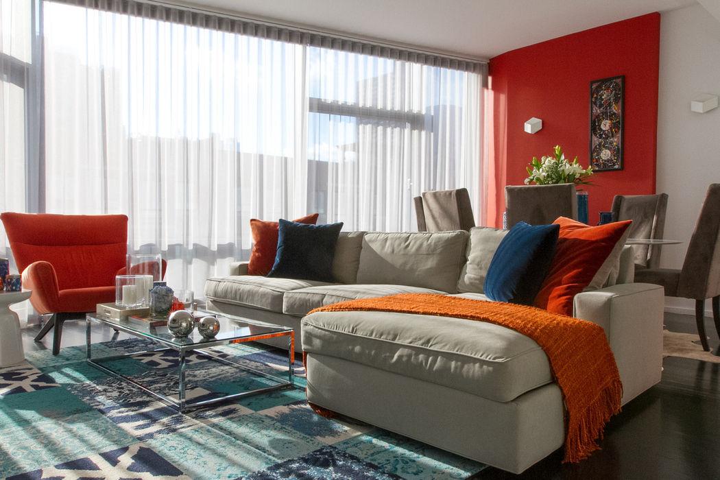 Hells Kitchen Penthouse Bhavin Taylor Design Salas