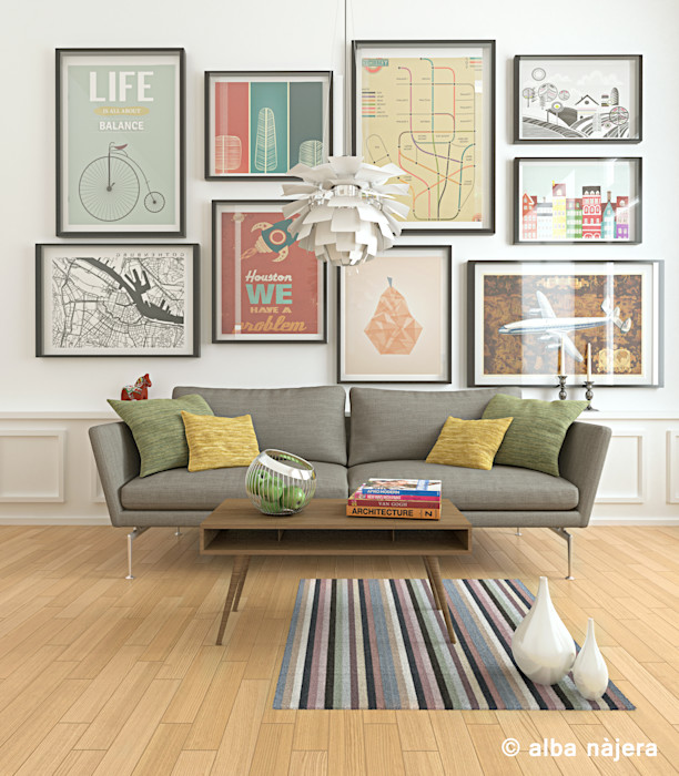 alba najera Scandinavian style living room