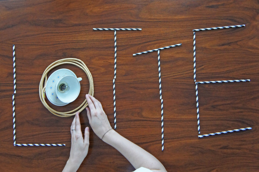 Lieselotte Hängelampen aus Vintage Porzellan Lieselotte EsszimmerBeleuchtungen