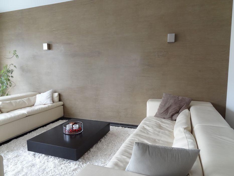 Modernes Wohnzimmer Wände mit Charakter Moderne Wohnzimmer