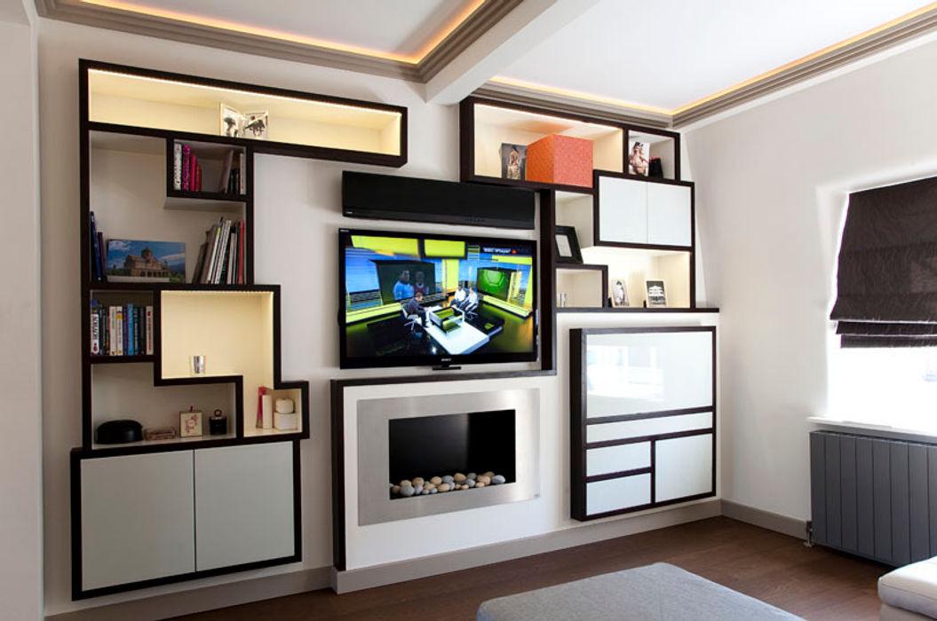Living Room Prestige Architects By Marco Braghiroli Soggiorno moderno