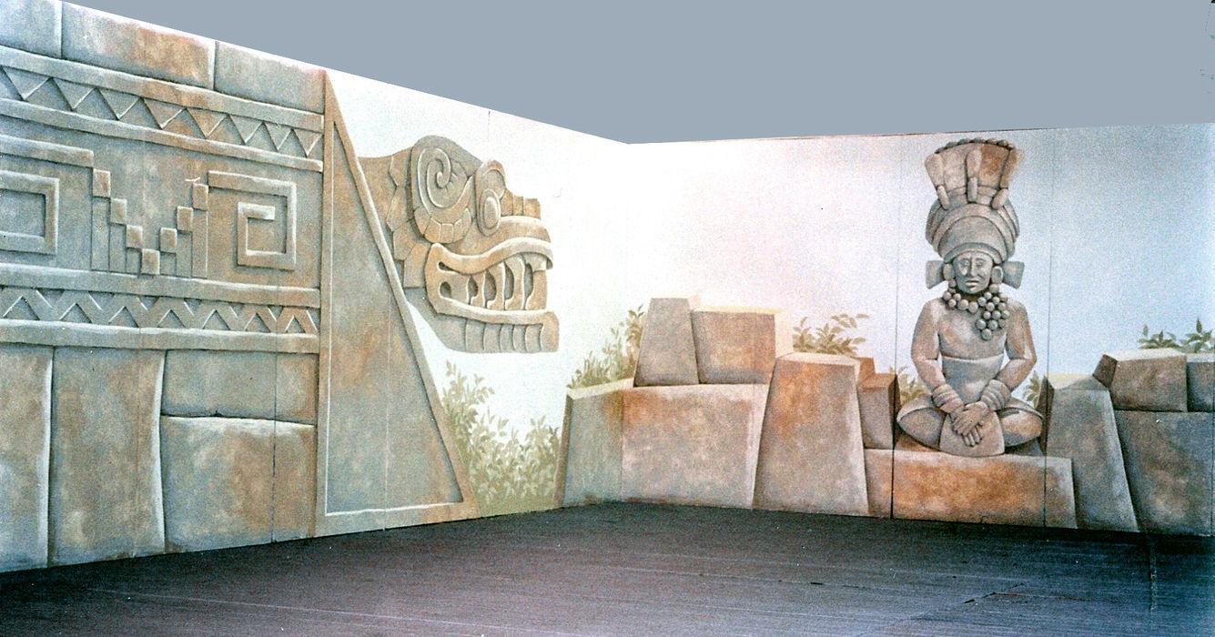 ARCHITETTURA PRECOLOMBIANA, allestimento per stand ITALIAN DECOR
