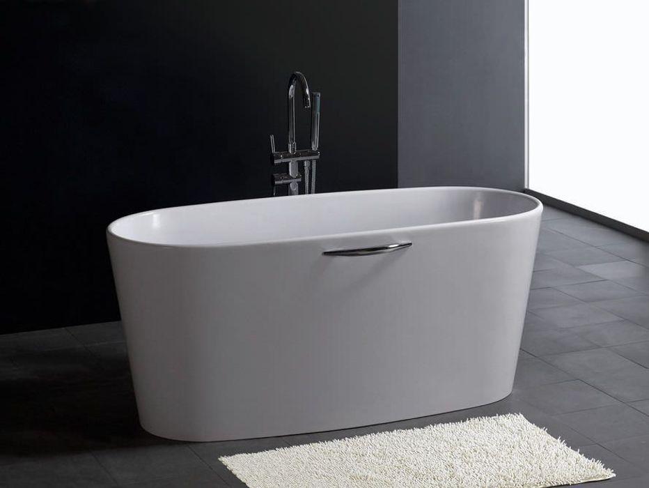 Bädermax freistehende Badewanen aus Mineralguss Maxxwell AG BadezimmerWannen und Duschen Weiß