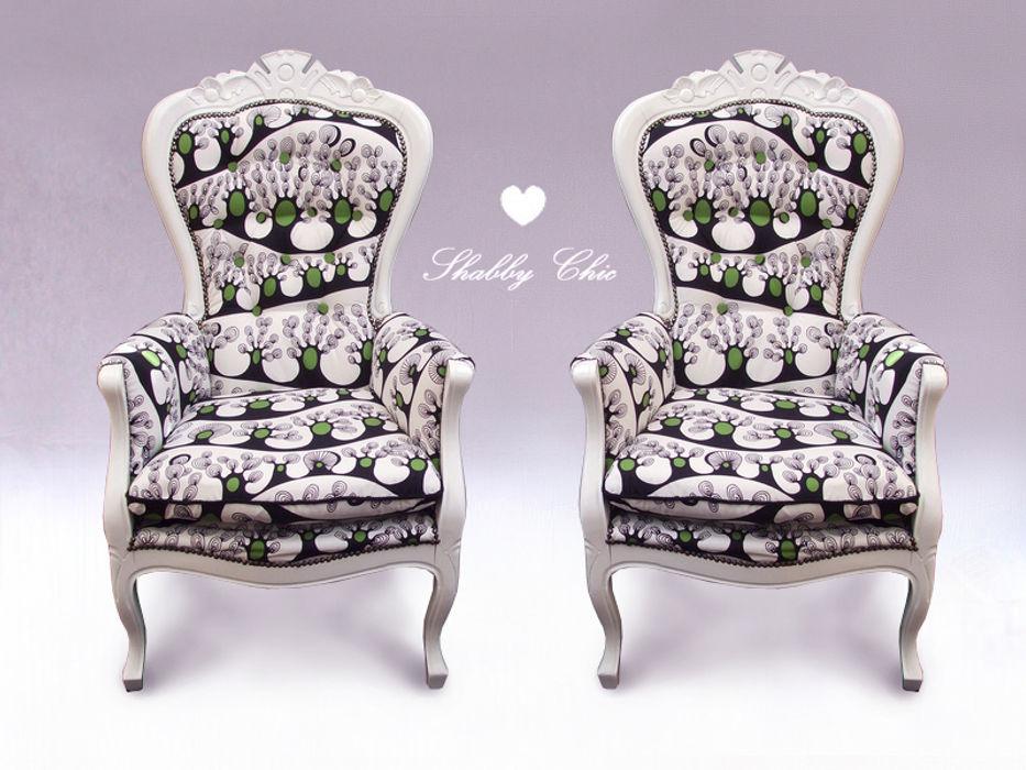 Chippendale Sessel Anne`S Shabby Chic WohnzimmerSofas und Sessel
