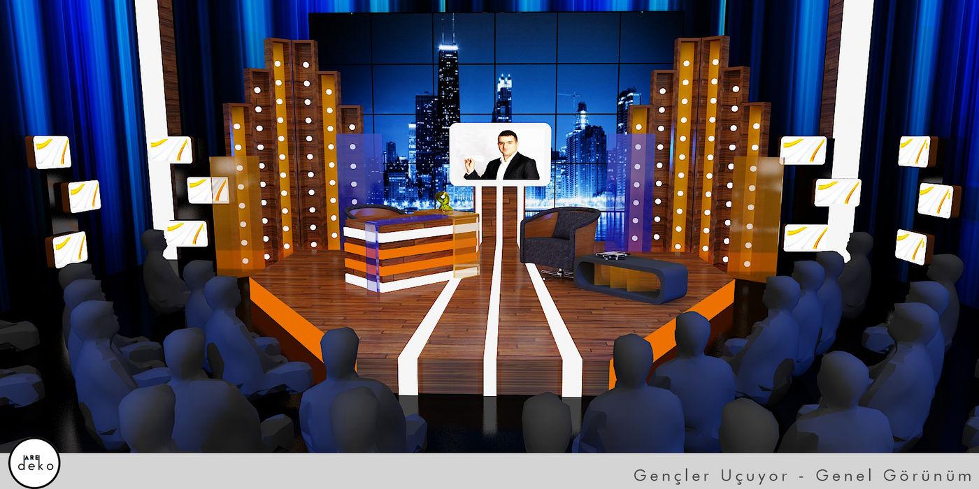 TV Set Design 3D drawing Aredeko Art & Design Conference Centres