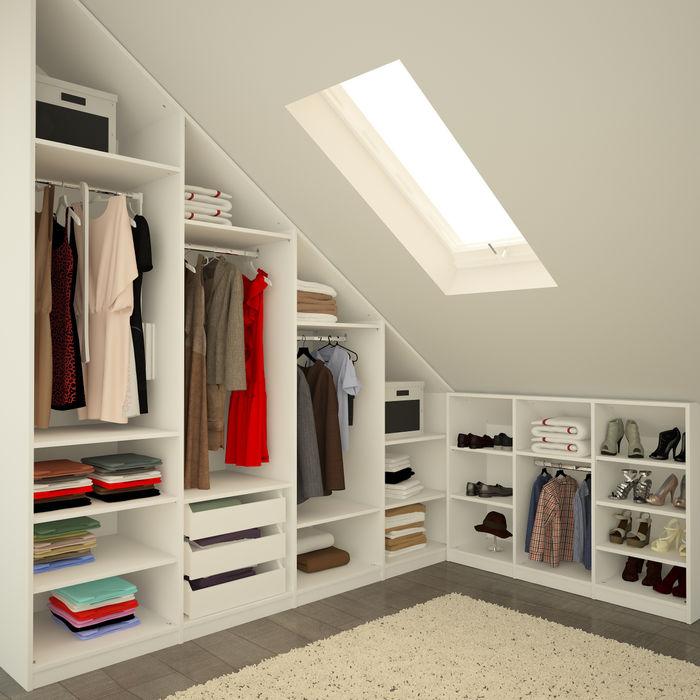 Begehbarer Kleiderschrank unter Schräge meine möbelmanufaktur GmbH Moderne Ankleidezimmer