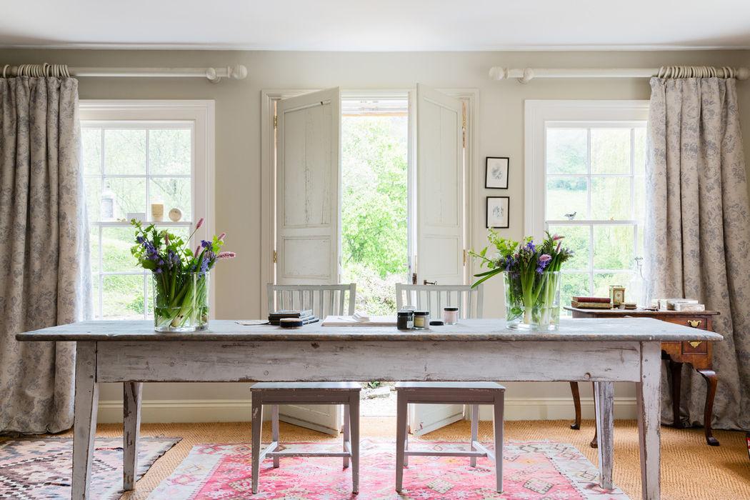 PARIS ROSE Cabbages & Roses Windows & doors Curtains & drapes