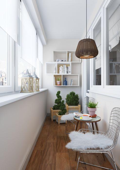 Anna Clark Interiors Balcones y terrazas de estilo escandinavo