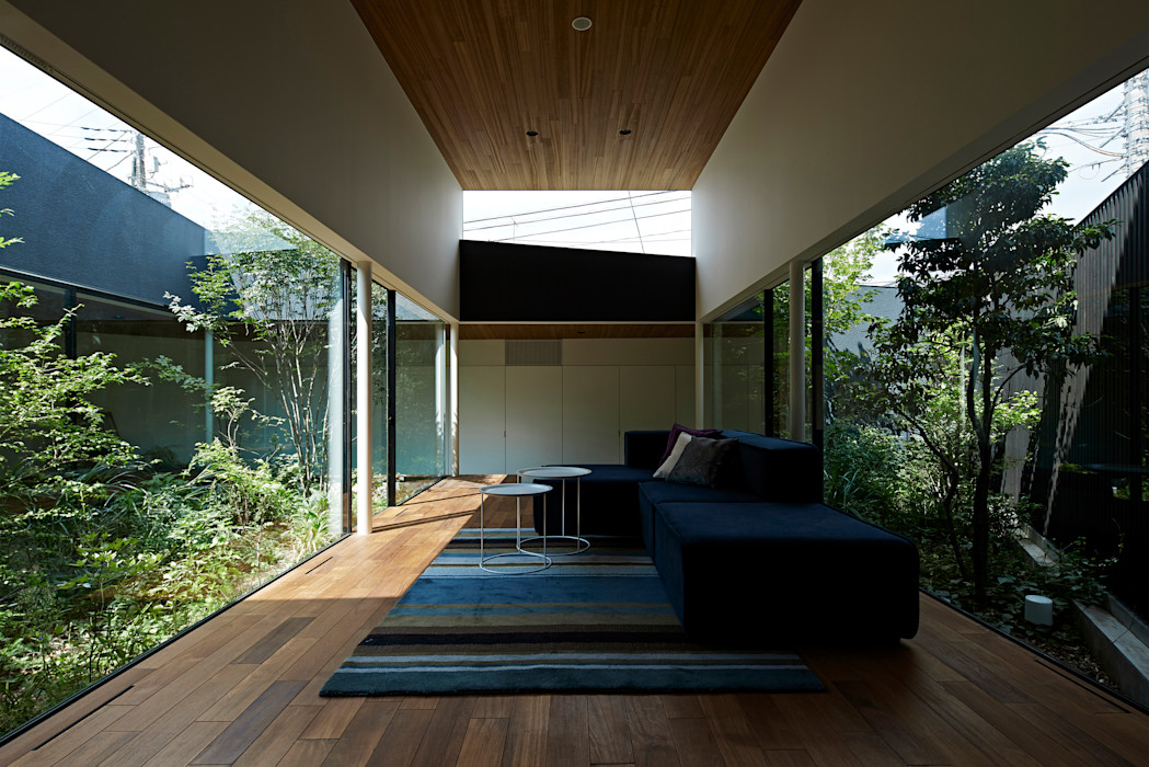 House in Higashimurayama 石井秀樹建築設計事務所 Ruang Keluarga Modern