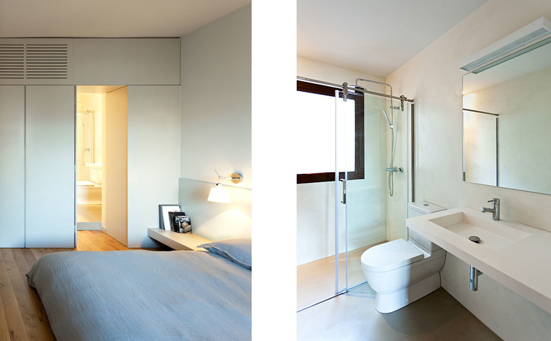 Dormitorio y baño ACABADOMATE Dormitorios de estilo moderno