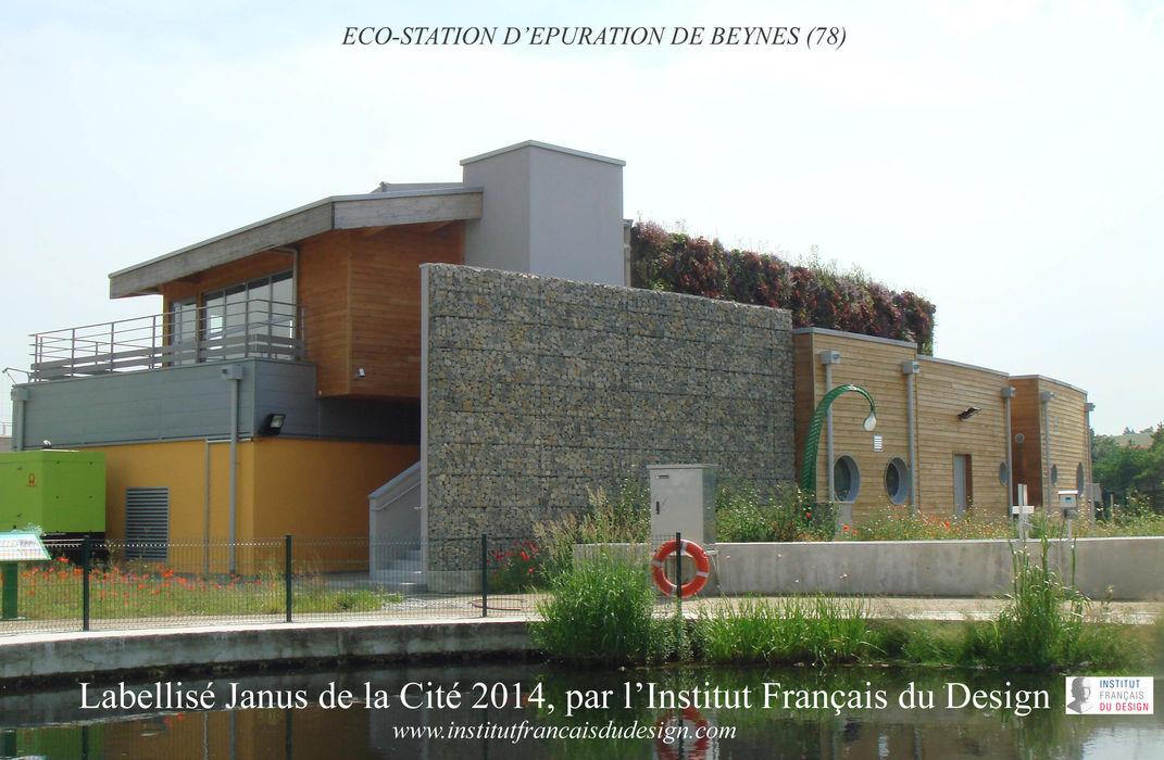 Eco-construction d'une usine à faible impact environnementale à Beynes AR Architectes Espaces de bureaux industriels