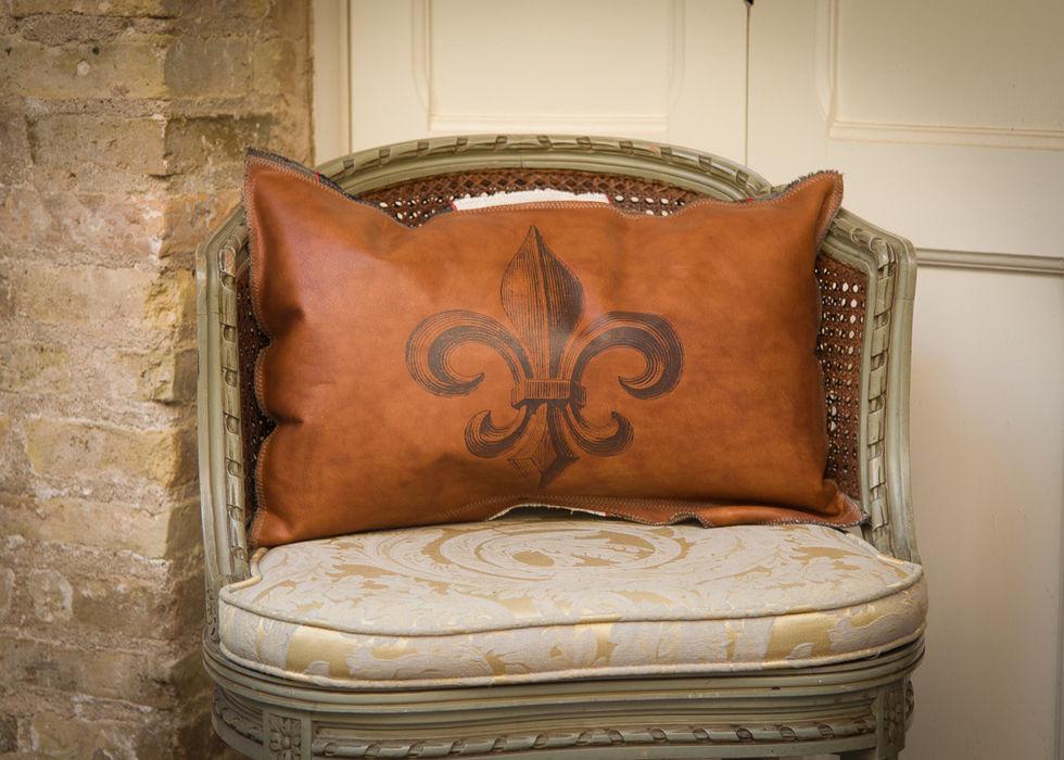 Handmade Leather Cushions Lu Ink HogarTextiles