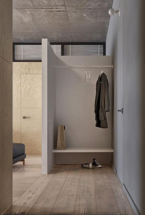 Интерьер IL INT2architecture Коридор, прихожая и лестница в стиле минимализм