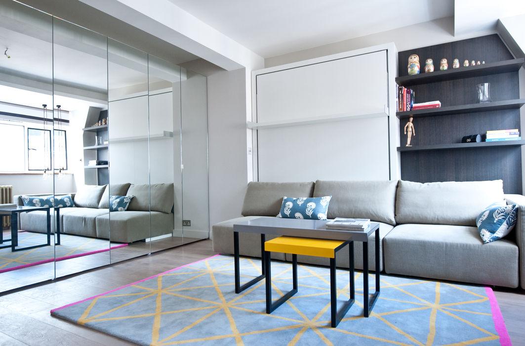 City Pied a Terre Black and Milk   Interior Design   London Modern living room