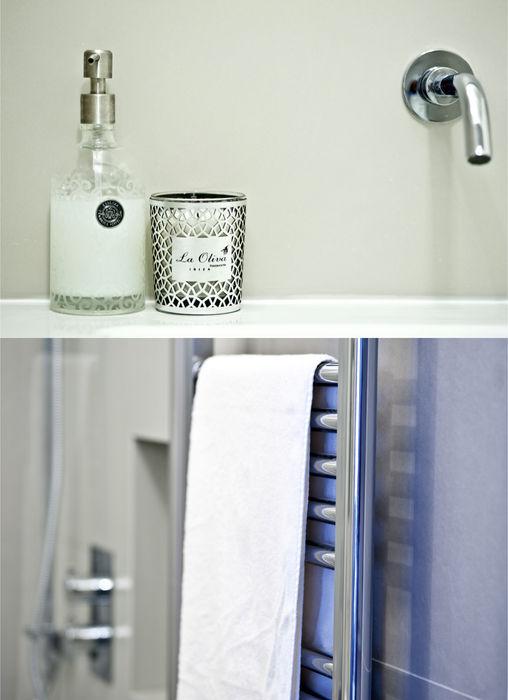 City Pied a Terre Black and Milk | Interior Design | London Minimalist bathroom