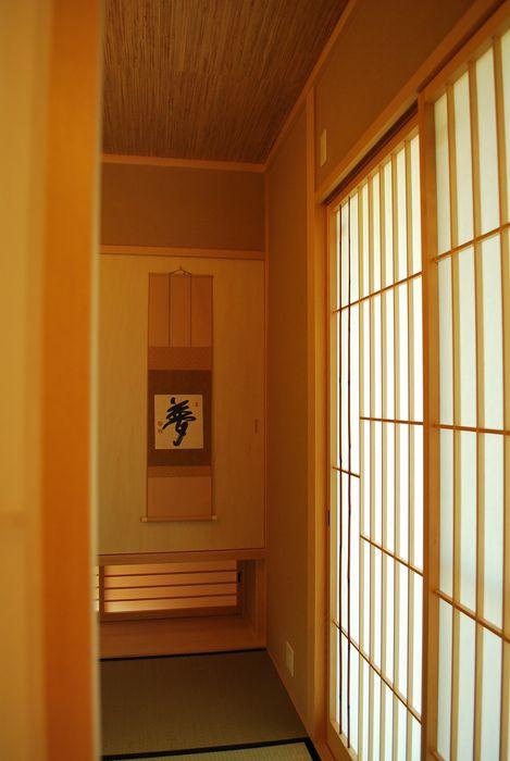 高城の家 西川真悟建築設計 モダンデザインの 多目的室