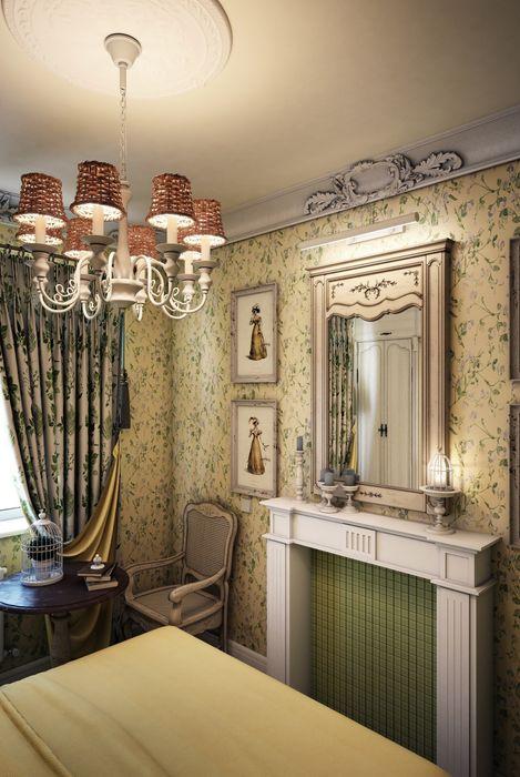 """""""Мелодии летнего утра""""- небольшая квартира в центре г.Хельсинки. Marina Sarkisyan Спальня в эклектичном стиле"""