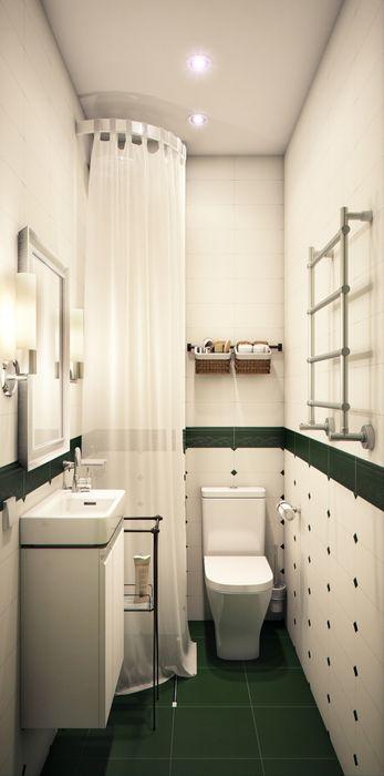 """""""Мелодии летнего утра""""- небольшая квартира в центре г.Хельсинки. Marina Sarkisyan Ванная комната в эклектичном стиле"""