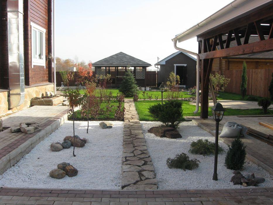 пусть всегда будет лето!!! TOPOS Сад в стиле минимализм