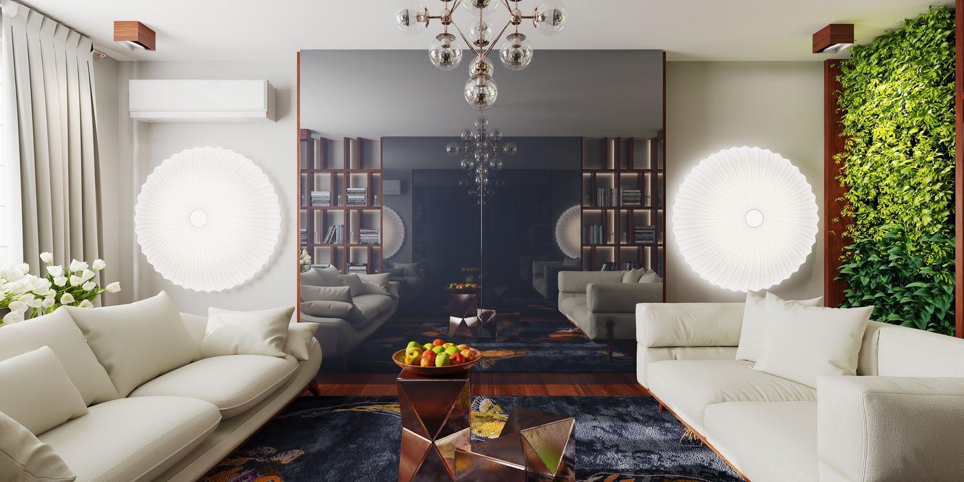 FEDOROVICH Interior Moderne Wohnzimmer