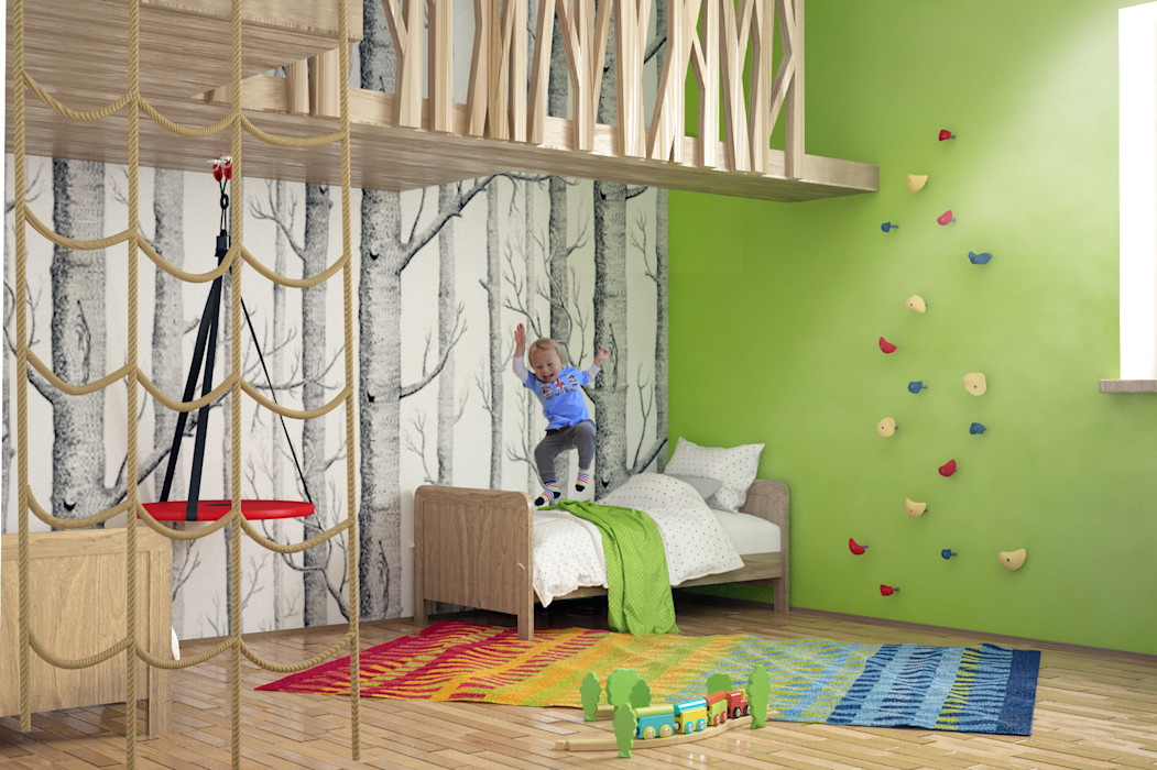 homify Minimalistyczny pokój dziecięcy