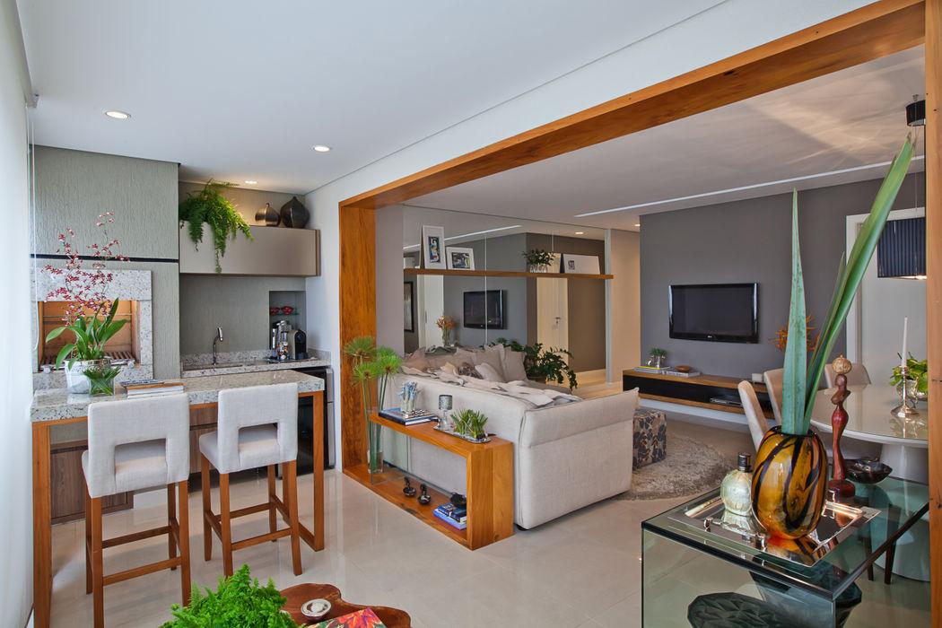 901 IE Arquitetura + Interiores Varandas, alpendres e terraços modernos