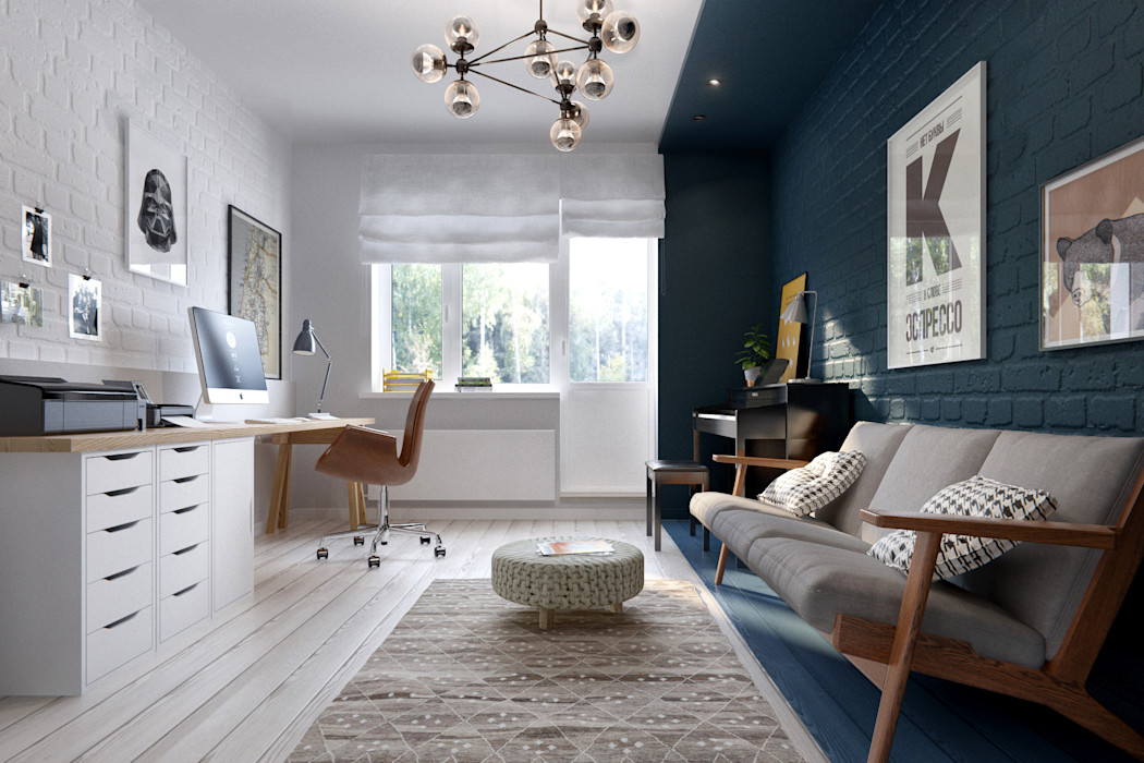 INT2architecture Scandinavian style study/office