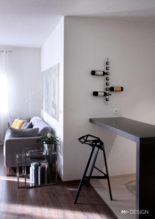 Mieszkanie 64m2 M+ DESIGN Marta Dolnicka Marchaj Minimalistyczna jadalnia