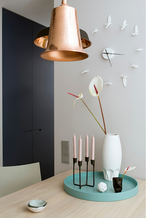 Ażur w Pastelach Pracownia Projektowa Poco Design Eklektyczna jadalnia
