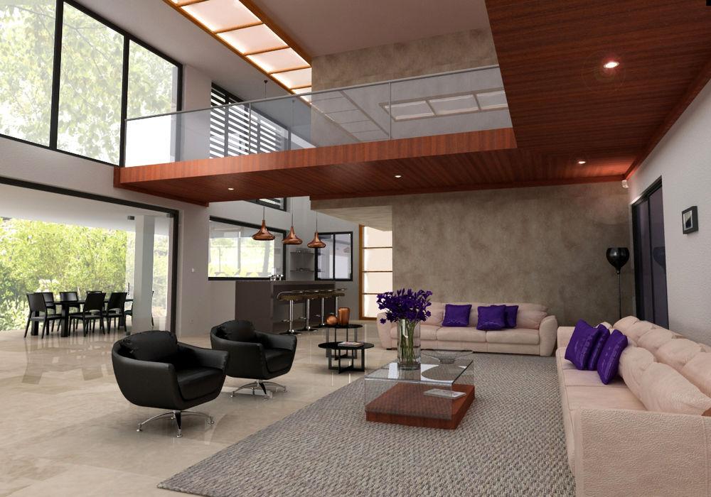 MATRADI - INFOGRAFÍA 3D Modern living room