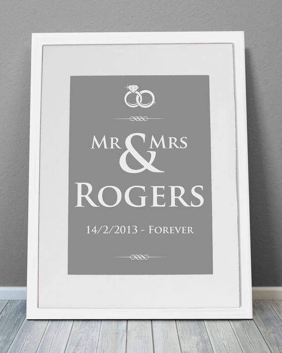 Personalised Print - Wedding Rings MAYKI ArteCuadros e ilustraciones