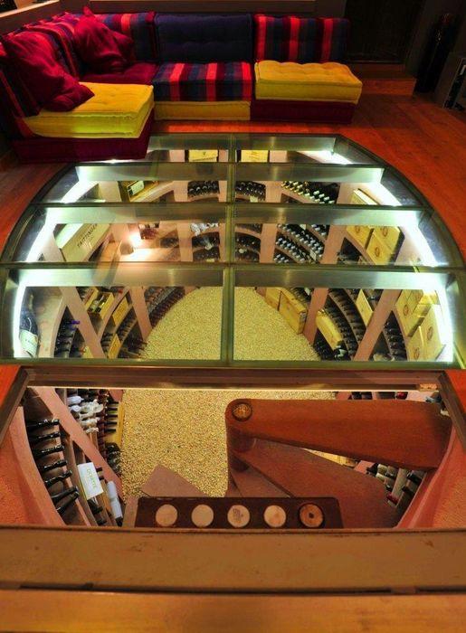 Bodega Ovalada Transparente jecasar Bodegas de vino modernas: Ideas, imágenes y decoración