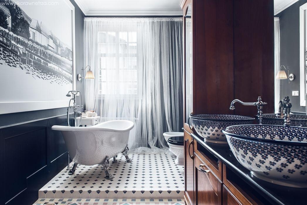 APARTAMENT W SOPOCIE Sikora Wnetrza Eklektyczna łazienka