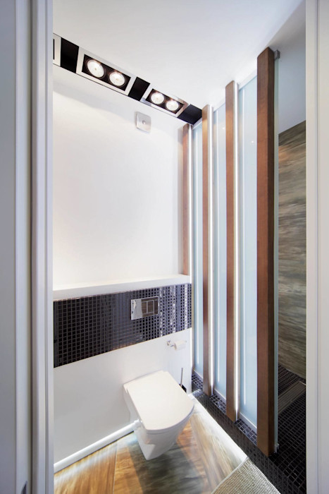 Квартира по ул. Февральской Революции Галина Глебова Ванная комната в стиле минимализм