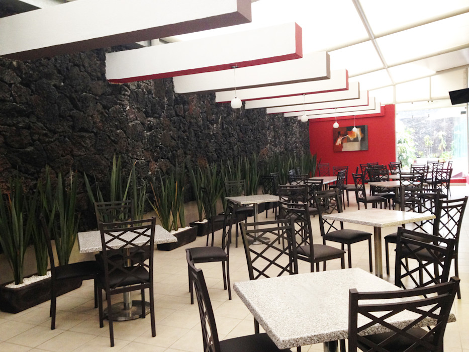 Restaurante Banobras Spazio3Design Edificios de oficinas de estilo moderno