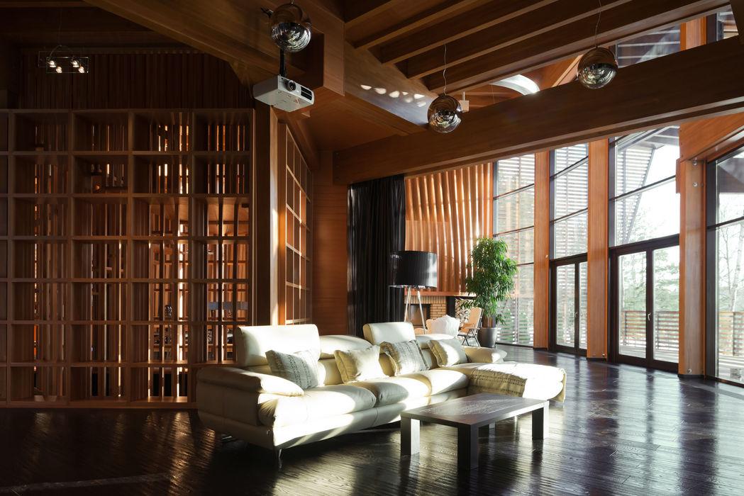 Дом «Веер» Название Медиа комнаты в эклектичном стиле