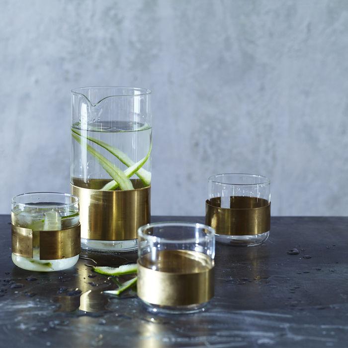 Aran Cuffed Carafe & Glass Rowen & Wren KitchenCutlery, crockery & glassware