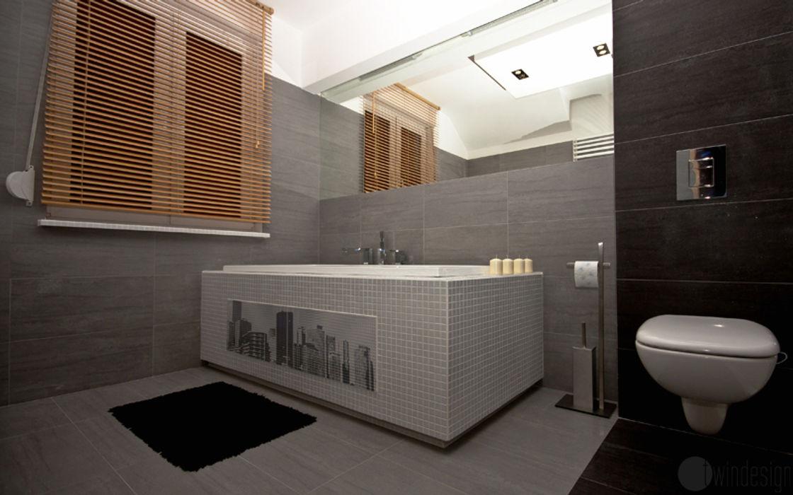 Szarości Bednarski - Usługi Ogólnobudowlane Nowoczesna łazienka
