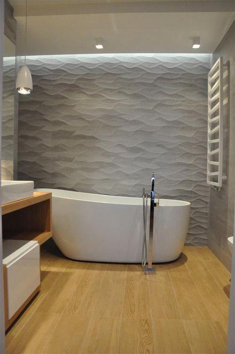 łazienka prywatna Tarna Design Studio Minimalistyczna łazienka