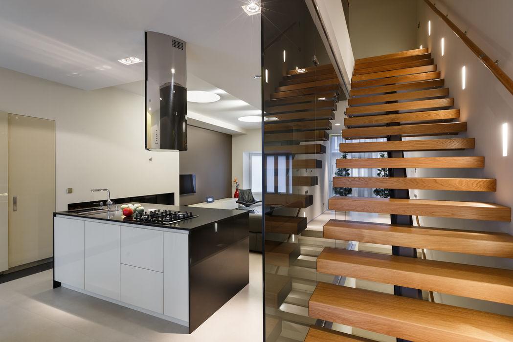 Лестница (DZ)M Интеллектуальный Дизайн Коридор, прихожая и лестница в стиле минимализм