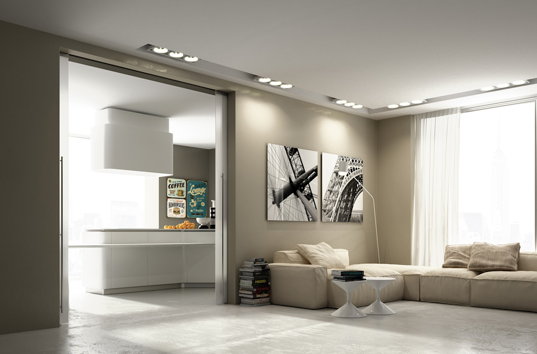 Porta scorrevole Glass Staino&Staino Finestre & Porte in stile moderno