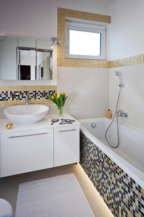 MIESZKANIE 54 M2 KRAMKOWSKA PRACOWNIA WNĘTRZ Nowoczesna łazienka
