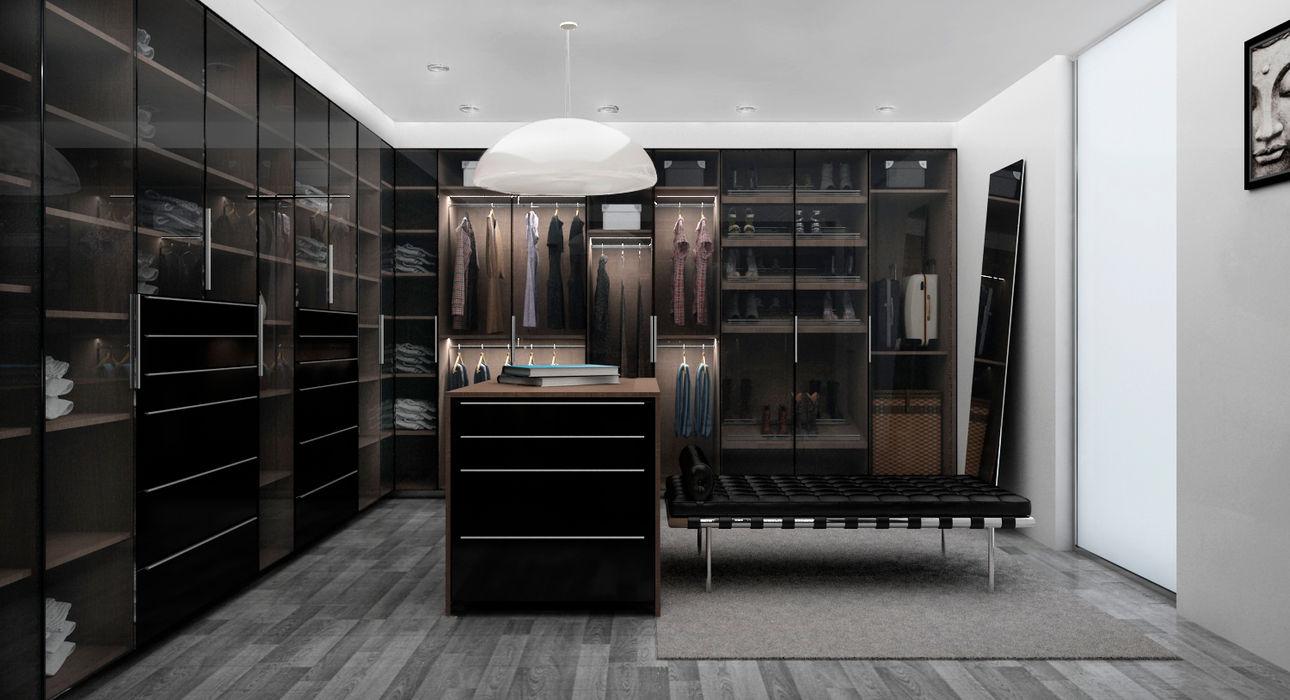 Zona Ella Citlali Villarreal Interiorismo & Diseño Closets de estilo moderno