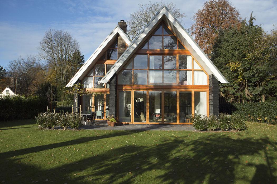 glazen achtergevel Boks architectuur Eclectische huizen