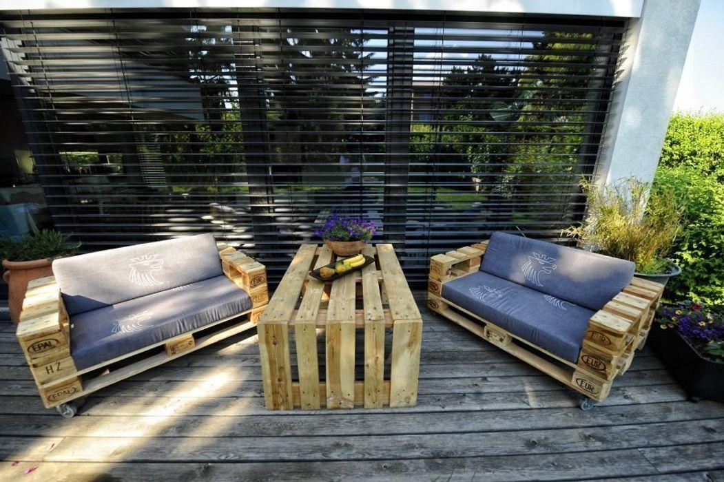 Das Sofa Hermann palettenmoebel.at Balkon, Veranda & TerrasseMöbel