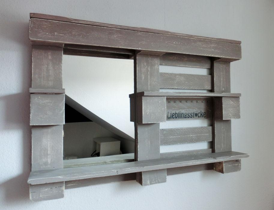 Stylingwandregal mit Spiegel Paletino SchlafzimmerAccessoires und Dekoration
