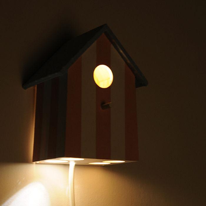 """Lampka nocna domek dla ptaków """"Słodkie sny"""" NOBOBOBO Pokój dziecięcyOświetlenie"""